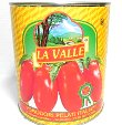 La Valle Italian Peeled Tomatoes in Tomato Puree with Basil Leaf Net wt 108 oz (6lb 12oz) Product of Italy
