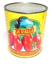 La Valle Italian Peeled Tomatoes in Tomato Puree - with basil leaf - Net Wt 28 oz Product of Italy